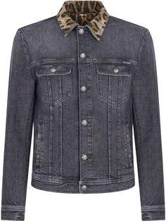 Dolce & Gabbana джинсовая куртка с леопардовым воротником