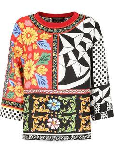 Dolce & Gabbana футболка с принтом в технике пэчворк