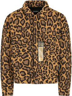 Dolce & Gabbana куртка-рубашка с леопардовым принтом