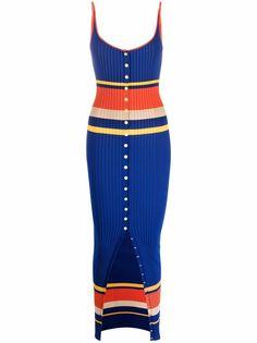 Paco Rabanne трикотажное платье макси с контрастными полосками