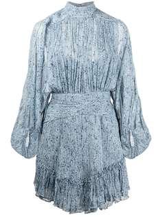 Shona Joy драпированное платье с цветочным принтом