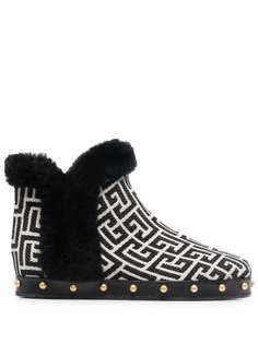 Balmain ботинки с монограммой