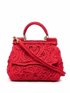 Dolce & Gabbana кружевная сумка-тоут Devotion