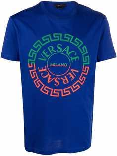 Versace футболка с принтом Greca