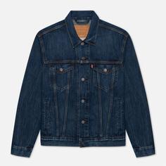 Мужская джинсовая куртка Levis Trucker, цвет синий, размер S