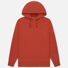 Мужская толстовка Champion Reverse Weave Script Logo Embroidery Hooded, цвет красный, размер XL