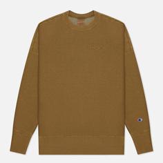 Мужская толстовка Champion Reverse Weave Script Logo Drop Shoulder, цвет оливковый, размер XL