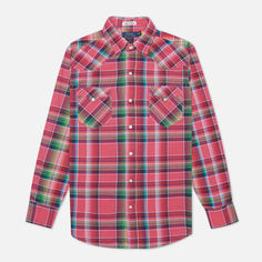 Мужская рубашка Polo Ralph Lauren Classic Fit Madras Western, цвет розовый, размер S
