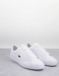 Белые кожаные кроссовки Lacoste Lerond BL2-Белый