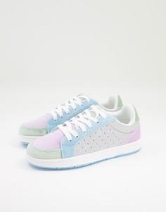 Разноцветные бархатные кроссовки ASOS DESIGN Dodie-Multi