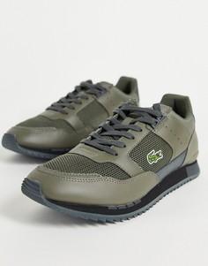 Кроссовки цвета хаки Lacoste Partner Piste Runner-Зеленый цвет