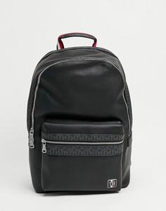Черный рюкзак изискусственной кожи с логотипом и монограммой Tommy Hilfiger-Черный цвет