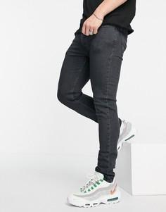 Черные окрашенные джинсы супероблегающего кроя Levis 519 Hi-Ball-Черный цвет