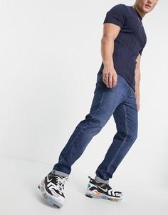 Темно-синие суженные книзу джинсы с подворотами Levis 502 Hi-ball-Темно-синий