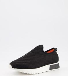 Черные беговые кроссовки дляширокой стопы River Island-Черный цвет