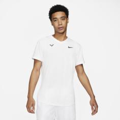 Мужская теннисная футболка с коротким рукавом NikeCourt Dri-FIT ADV Rafa - Белый