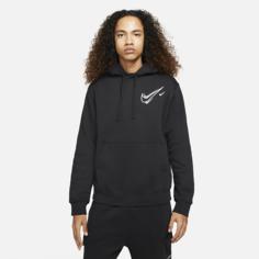 Мужская флисовая худи Nike Sportswear - Черный