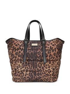 Dolce & Gabbana сумка-тоут с леопардовым принтом