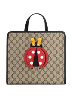 Gucci Kids сумка из канваса с узором GG и аппликацией
