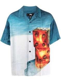Stussy рубашка с короткими рукавами и принтом