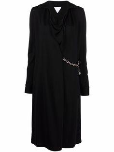 Bottega Veneta платье миди с цепочкой