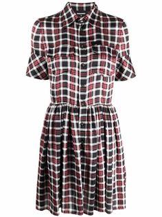 Dsquared2 платье-рубашка в клетку