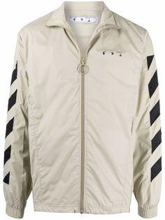 Off-White спортивная куртка с полосками