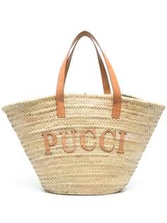 Emilio Pucci пляжная сумка с логотипом