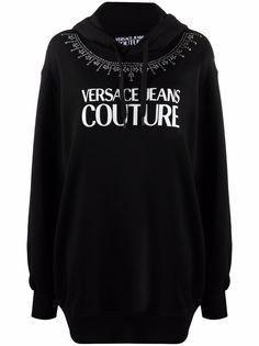 Versace Jeans Couture платье-худи с логотипом