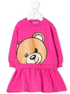 Moschino Kids платье-толстовка с принтом Teddy Bear