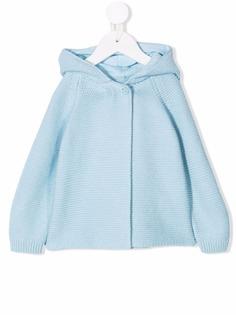 Stella McCartney Kids вязаная куртка с капюшоном
