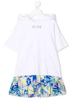 Emilio Pucci Junior платье миди с капюшоном
