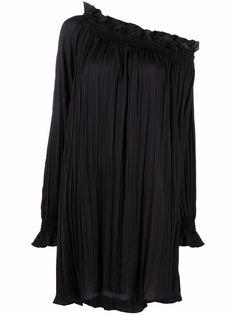 MSGM платье мини с драпировкой и складками