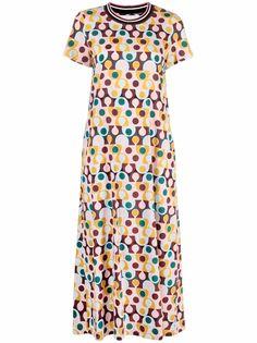 La Doublej платье с принтом