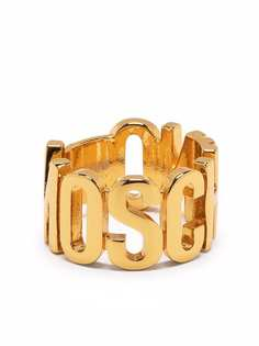 Moschino кольцо с логотипом