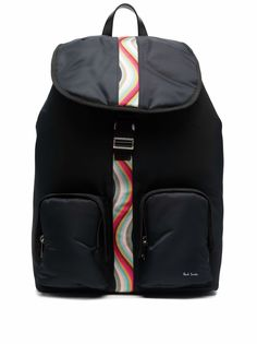 PAUL SMITH рюкзак с отделкой в полоску