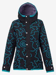 Куртка для сноуборда Burton 16-17 W TWC Yea Jk Crack Is Wck Clrblk-S