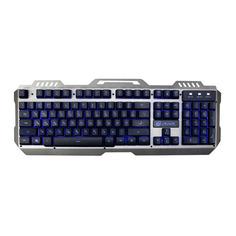 Клавиатура OKLICK 790G IRON FORCE, USB, c подставкой для запястий, темно-серый + черный