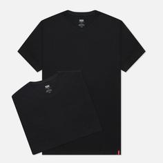 Комплект мужских футболок Levis 2 Pack Slim Crewneck, цвет чёрный, размер XXXL