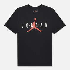 Мужская футболка Jordan Air Wordmark, цвет чёрный, размер S