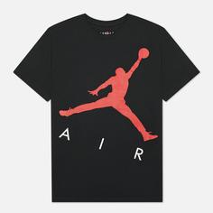 Мужская футболка Jordan Jumpman Air HBR Crew, цвет чёрный, размер L