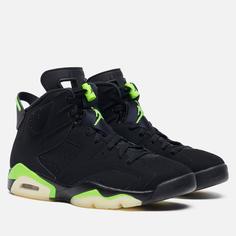 Мужские кроссовки Jordan Air Jordan 6 Retro Electric Green, цвет чёрный, размер 43 EU