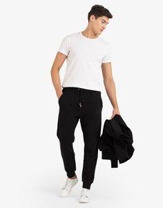Чёрные спортивные брюки-джоггеры с принтом Gloria Jeans