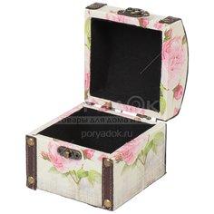 Шкатулка Розовые цветы Y6-2452 I.K, 10х10х9 см