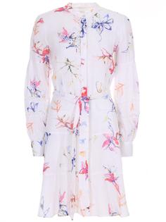 Платье льняное с принтом 120% Lino