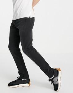 Зауженные джинсы выбеленного черного цвета Levis 510-Черный