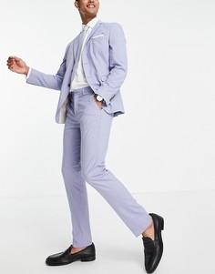 Голубые брюки узкого кроя Selected Homme-Фиолетовый цвет
