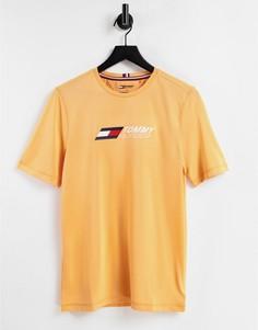 Оранжевая футболка с логотипом на груди Tommy Hilfiger Performance-Оранжевый цвет