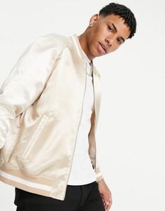 Куртка светло-бежевого цвета и цвета экрю Topman-Светло-бежевый цвет