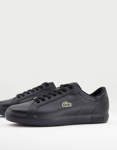 Черные кроссовки с логотипом крокодила Lacoste Powercourt-Черный цвет